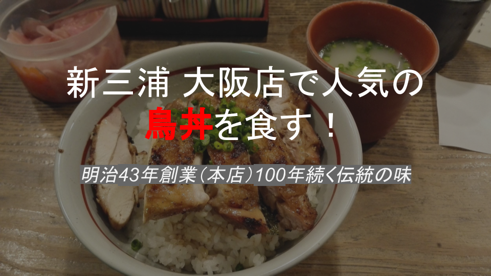 新三浦大阪の鳥丼
