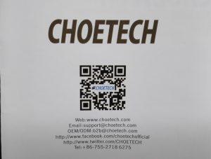 CHOETECH連絡先
