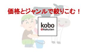 楽天koboで価格の絞り込み検索をする方法