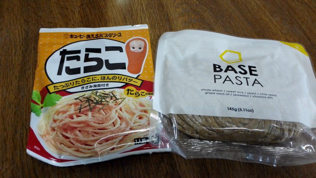 base pastaにたらこ